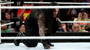 Photo by: WWE Roman Reigns sets up for the Superman Punch