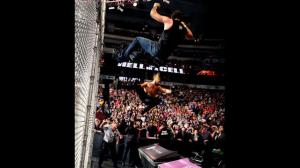 Now THAT'S how you start a Hell in a Cell match Property of WWE